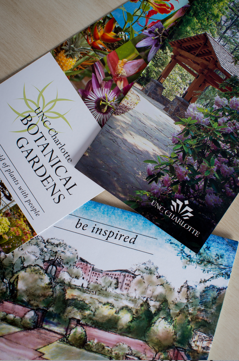 The Botanical Gardens On UNC Charlotte Campus Needed Some Marketing  Materials To Market Themselves. Along With Brochures And Invitations, I  Also Designed ...