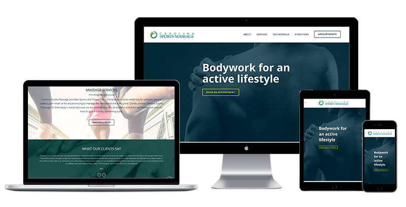 Carolina Sports Massage website